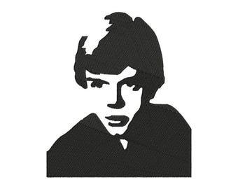 Luke Skywalker Embroidery Design - 6 SIZES