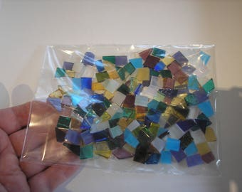 orange stained glass tiles for mosaic crafts glass pieces