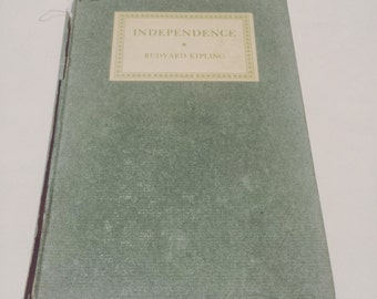FREE SHIPPING - Independence by Rudyard Kipling - vintage antique Jungle Book books novel adolescence teen teens young adult advice wisdom