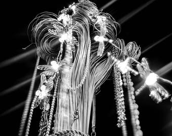 Light Art creation Photo / Poster / Canvas Black and White