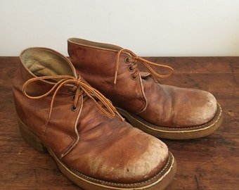 Vintage Leather Chukka Ankle Boots