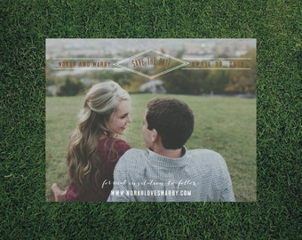 Modern Wedding Save the Date // 50 4.25x5.5 Printed Cards // Modern Wedding, Save the Dates, Geometric Wedding