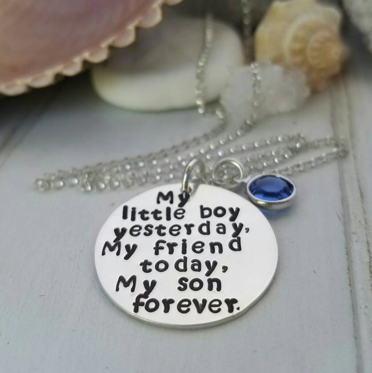 My Little Boy Mother and Son necklace Sterling Silver