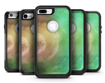 Green 8643 Absorbed Watercolor Texture - OtterBox Case Skin-Kit for the iPhone, Galaxy & More