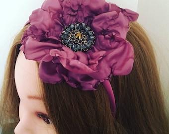 Corsage floral headband