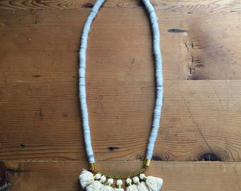 Wool Wrapped Necklace No. 3 with tassels