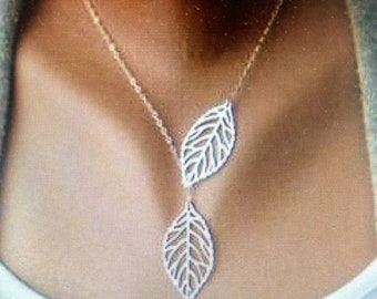 Silver plated charmed necklace