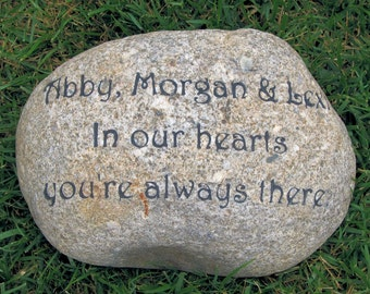 Personalized Memorial Stone Engraved Memorial for a Loved One Lost 10-11 Inch Memorial Garden Stone Maker