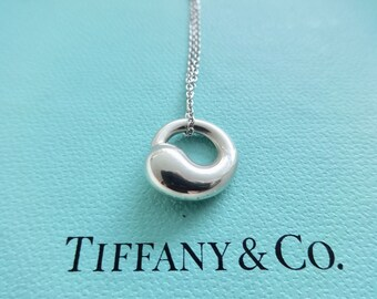 Eternal circle etsy authentic tiffany co elsa peretti sterling silver eternal circle pendant necklace mozeypictures Image collections