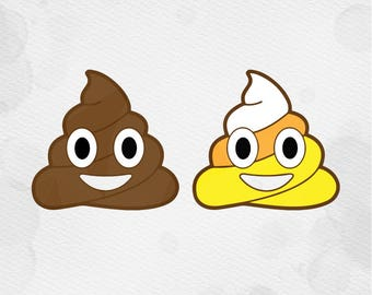 Poop emoji svg, poop svg, emoji svg, svg, dxf, cricut, Poop emoji candy corn SVG candy Corn SVG silhouette cutting file silhouette svg files