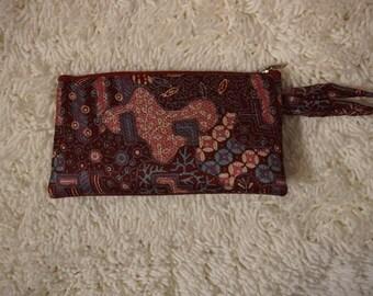 Batik Coin Purse Wallet / Pencil Case / Cosmetic Pouch