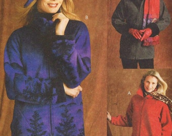 Womens Unlined Casual Jackets and Hat in 3 Sizes McCalls Sewing Pattern 4217 Size 16 18 20 22 24 26 Bust 38 40 42 44 46 UnCut