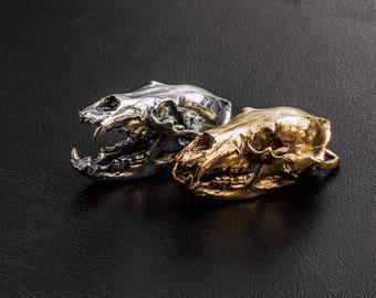 Bear skull pendant Grizzly bear skull necklace Cosplay realiste Ours crane Schädel eines Bären Skull charm