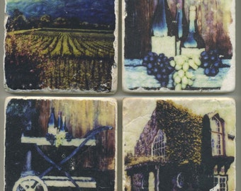 Napa Valley Collection - 4 original coasters