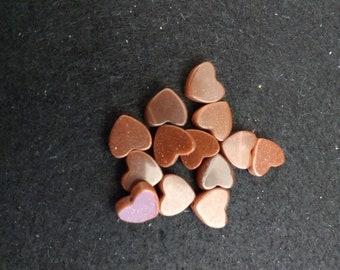Vintage Brown Goldstone 8mm Hearts