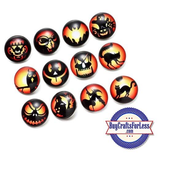 SALE! SNaP HALLOWEEN Buttons, 18mm INTERCHaNGABLE Buttons, 12 designs +FREE Shipping & Discounts