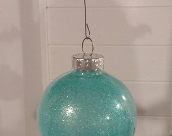 Light blue shatter proof Christmas ornament---shatterproof