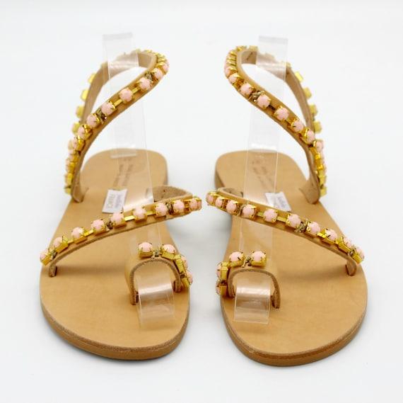 sandali femme sandals Sandals Pearl sandals Sandals sandalen embellished leder greci Sandales Leather greek Strappy cuir Sandals Woman 1g4Zqw