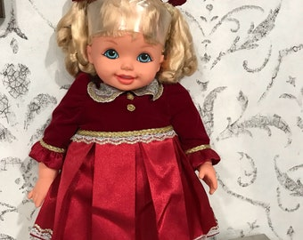 "1994 Mattel Vinyl Doll, 16"", marked TM"