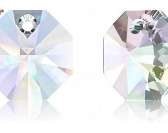 Swarovski 6401 - Octagon Crystal Pendant