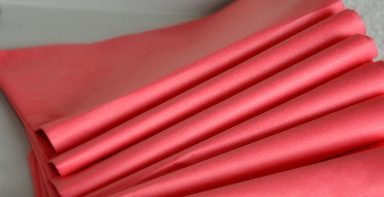 Island Pink Tissue Paper 24 Sheets Bulk Flamingo Pink Tissue