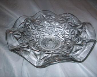 Antique Vintage Pressed Glass Bowl