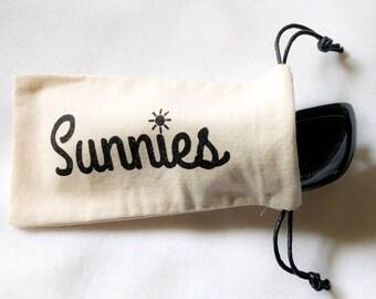 Sunglasses Case, Canvas Bag Pouch