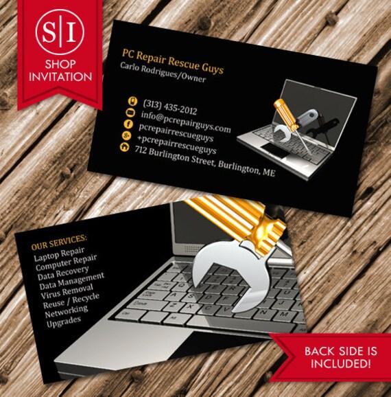 Computer repair business card idealstalist computer repair business card wajeb Image collections