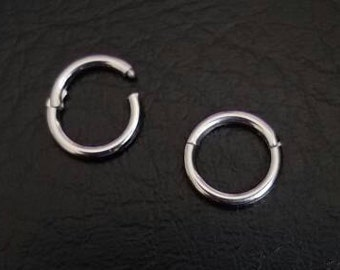 "16g 1/2"" (13mm) Steel Seamless Segment Hinged Ring Hoop Daith Nipple Cartilage Earlobe Ear Septum Helix Lip body jewelry 316lvm Steel"