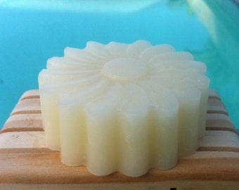 Solid Hair Conditioner Bar/Disk-Handmade in Hawaii-Organic Hawaiian Honey,Shea Butter, Argan & Apricot Oil, Panthenol (B5)-PLUMERIA