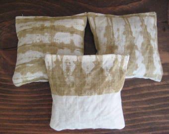 Set of 3 Lavender Sachets - Linen Fabric