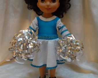 All Star Cheerleader  doll and outfit and pom-poms