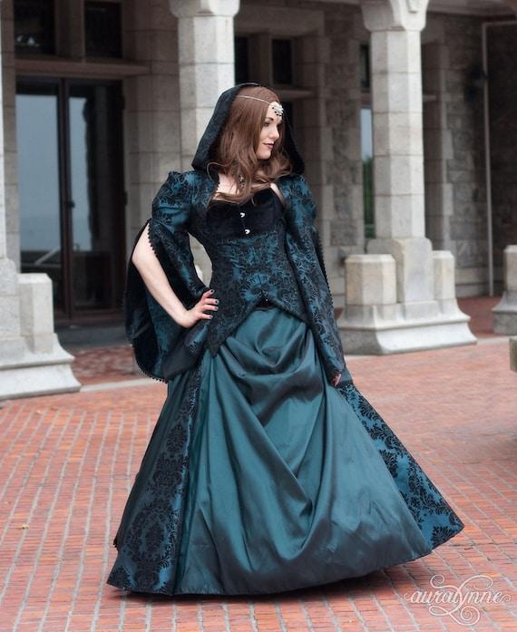 Ballgown Wedding Dress Medieval Green Wedding Dress Dress Wedding Celtic Fantasy Costume Lady Dress Enchantress Renaissance Wedding BfFgP1B