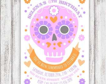 Sugar Skull Party Invites