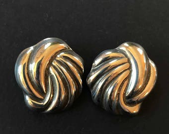 Taxco Mexico Sterling Silver Knot Earrings