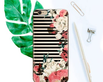 Colorful iPhone 8 Case for Samsung Note 8 Clear Floral iPhone X Case iPhone 6 Case For S8 Flowers iPhone 7 Plus Case iPhone 6s Plus CF1009