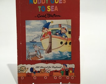 Vintage 1991 Children's Book - Noddy Goes To Sea by Enid Blyton - Christmas Gift - Stocking Filler