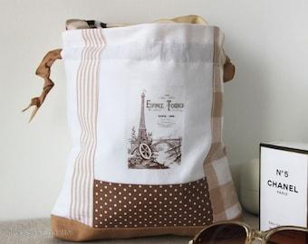 paris tour Eiffel Tower lingerie bag, vintage style, underwear pouch, travel bag, gift idea, laundry bag, toilet bag