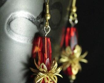 Red Lotus earrings / Red Lotus earrings