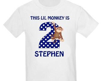 Monkey Personalized Birthday Shirt - ANY AGE