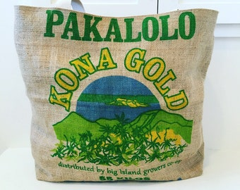 Kona Gold Coffee Sack Tote/ Beach Bag/ Oversized Bag