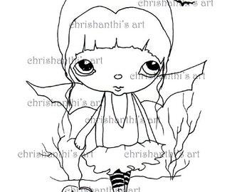 INSTANT DOWNLOAD digitale Digi stempels... door Chrishanthi van kunst, Batgirl.