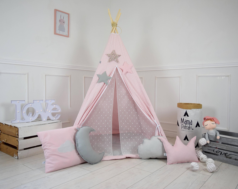 Tipi-Zelt rosa Tipi Pulver rosa Zelt Kinder spielen