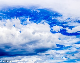 Blue clouds color photography