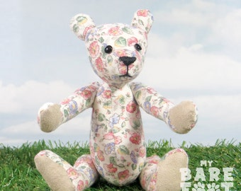 Sale! - Artist Teddy Bear 'Fleur' OOAK hand crafted - My Bear Foot Bears