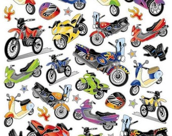 Motorcycle Mania Stickers • Motorcycle Sticker • Vehichle • Transportation • Boys Party • Motorbike Sticker • Bike (SK4221)