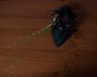 Silk Dupion Fascinator with fibre optic lighting