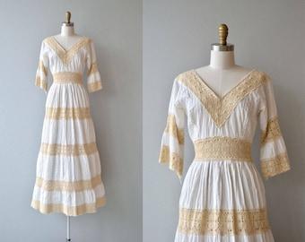 Inez dress | vintage 1950s mexican wedding dress | cotton crochet 50s dress
