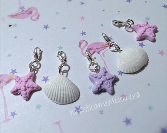 Set of 5 stitch markers, handmade in polymerclay, for crochet or knitting.