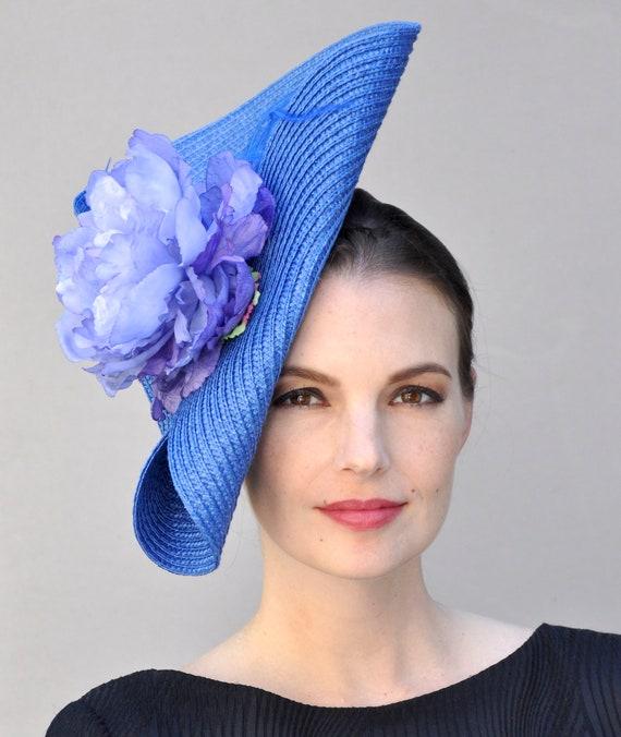 Derby fascinator, Kentucky Derby Hat, Wedding Hat Fascinator, Blue Hat, Kentucky Derby Fascinator, Blue Fascinator hat